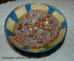 cornmeal mush with hazelnuts and honey--BLOG