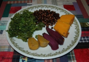 swt potatoesX3, kale, cowpeas--BLOG