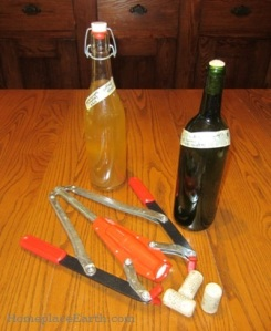 Mead bottles and corker--BLOG