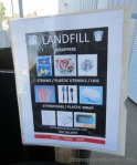 landfill sign-zero waste events