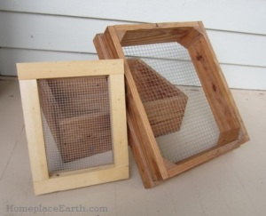 Homemade seed screens-BLOG