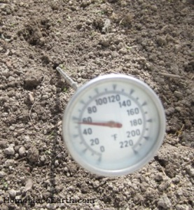 "20"" long compost thermometer with a 1 3/4"" face"