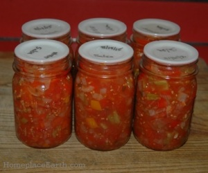 jars of salsa