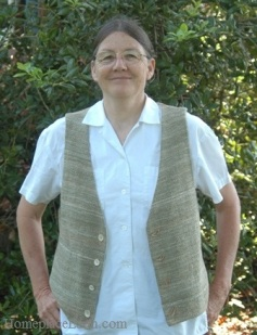 cindy in cotton vest - BLOG
